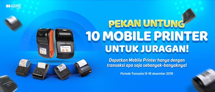 Pekan Untung Fastpay Bagi-Bagi Mobile Printer