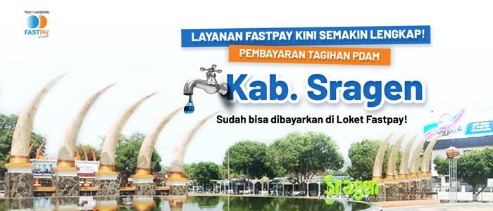 Pembayaran PDAM Kab. Sragen Tersedia di Loket Fastpay