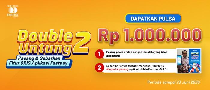 FASTPAY Bagi-Bagi Pulsa Total Rp. 1.000.000,-